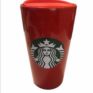 Starbucks Red Ceramic Tumbler